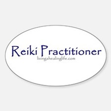 Reiki Practitioner purple Oval Decal