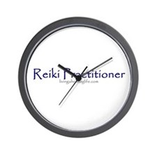 Reiki Practitioner purple Wall Clock