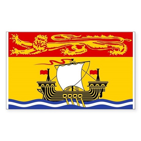 New Brunswick Flag Rectangle Sticker
