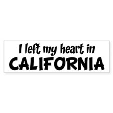 Left my Heart: CALIFORNIA Bumper Bumper Sticker