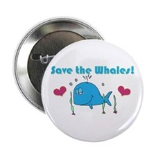 """Save The Whales 2.25"""" Button"""