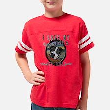 I love my grandpas pit bull Youth Football Shirt