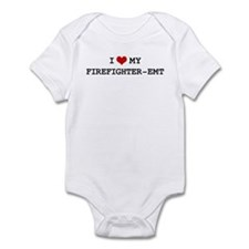 I Love My FIREFIGHTER-EMT Infant Bodysuit