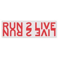 Run 2 Live (red/yellow) Bumper Bumper Sticker
