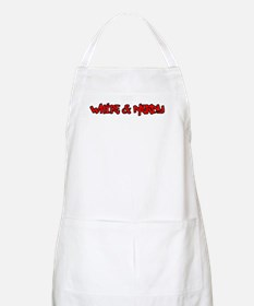 White and Nerdy BBQ Apron