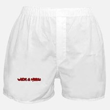 White and Nerdy Boxer Shorts