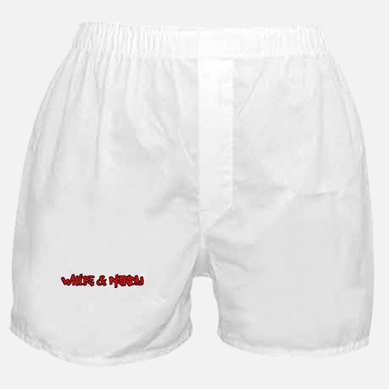 White and Nerdy Boxer Shorts