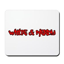 White and Nerdy Mousepad