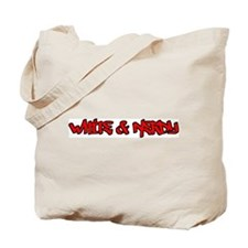 White and Nerdy Tote Bag