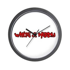 White and Nerdy Wall Clock