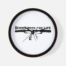 Behind Bars For Life Wall Clock