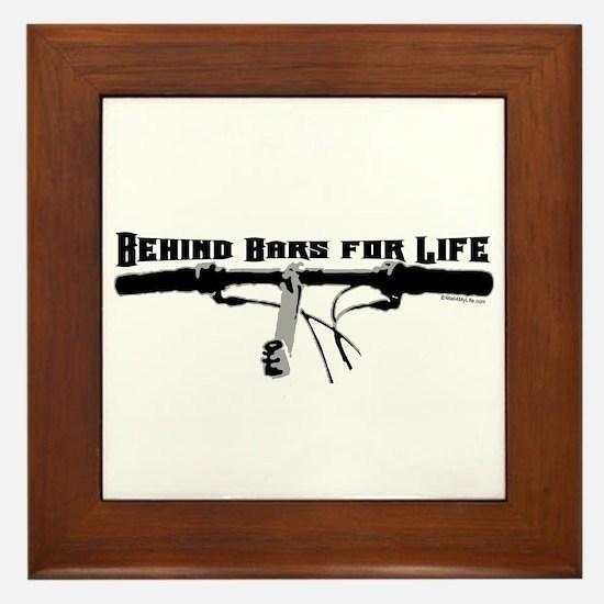 Behind Bars For Life Framed Tile