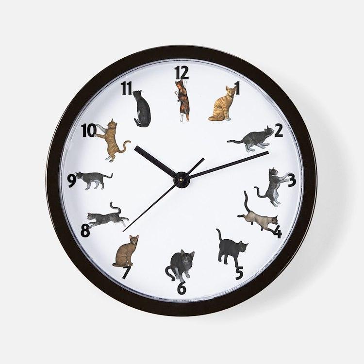 Cat Kitchen Wall Clock