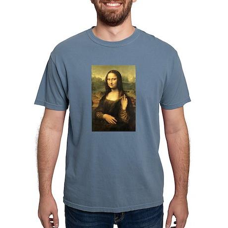 Mona Lisa Flip Off Mens Comfort Colors Shirt