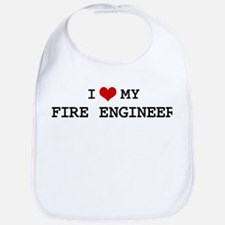 I Love My FIRE ENGINEER Bib