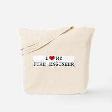 I Love My FIRE ENGINEER Tote Bag