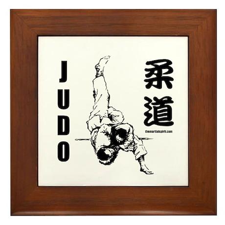 Judo Throw Framed Tile