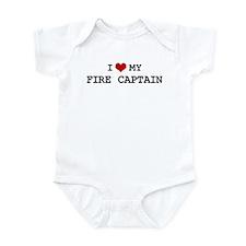I Love My FIRE CAPTAIN Infant Bodysuit
