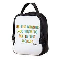 Be The Change Neoprene Lunch Bag