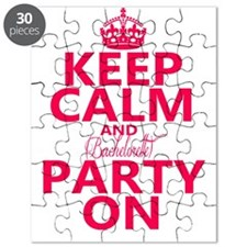 Keep Calm and Bachelorette Party On Puzzle