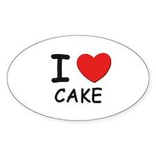 I love cake Oval Decal