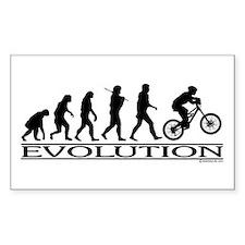 Evolution (Mt. Biking) Rectangle Decal