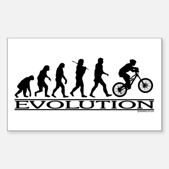 Evolution (Mt. Biking) Rectangle Decal