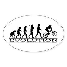 Evolution (Mt. Biking) Oval Decal