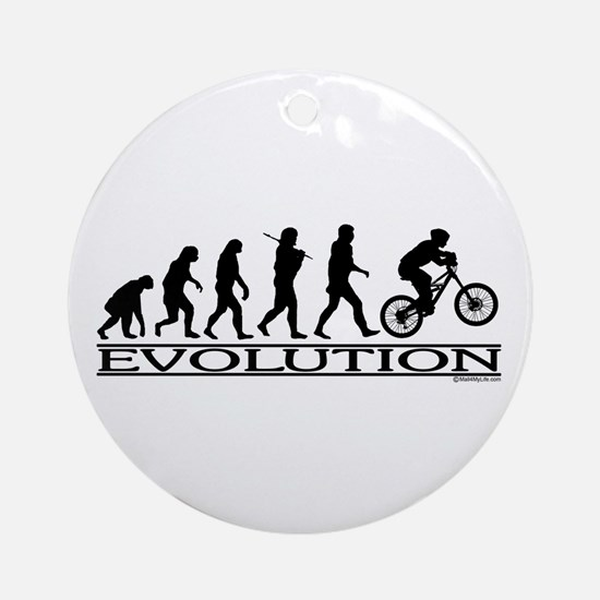 Evolution (Mt. Biking) Ornament (Round)