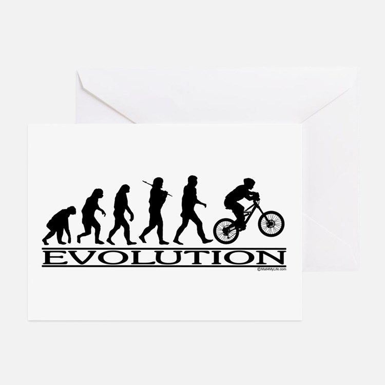Evolution (Mt. Biking) Greeting Cards (Package of