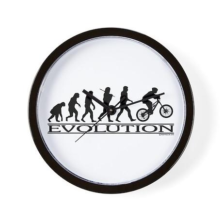 Evolution (Mt. Biking) Wall Clock