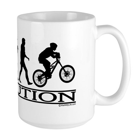 Evolution (Mt. Biking) Large Mug