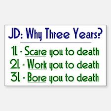 JD = Three Years Decal