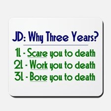 JD = Three Years Mousepad