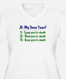 JD = Three Years Plus Size T-Shirt