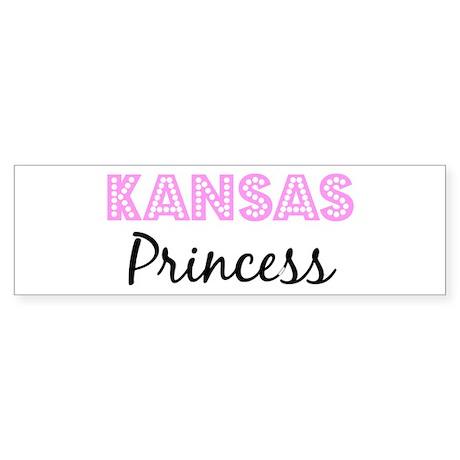 Kansas Princess Bumper Sticker