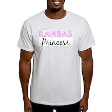 Kansas Princess Ash Grey T-Shirt