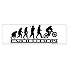 Evolution (Mt. Biking) Bumper Bumper Sticker