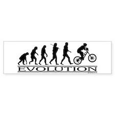 Evolution (Mt. Biking) Bumper Car Sticker