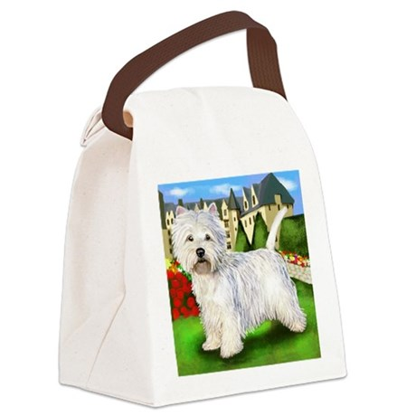 westie5 copy Canvas Lunch Bag
