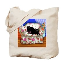 sofa cats copy                            Tote Bag