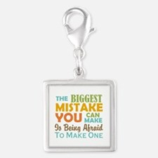 The Biggest Mistake Silver Square Charm