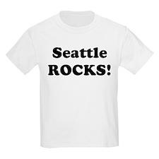 Seattle Rocks! Kids T-Shirt