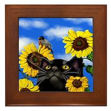sunflowerbcat                          Framed Tile