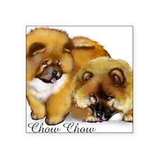 "chow2                       Square Sticker 3"" x 3"""