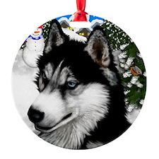 Siberian Husky copy                 Round Ornament