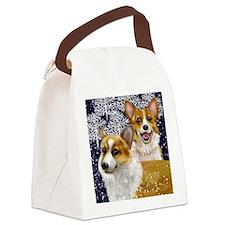 corgeswinter copy                 Canvas Lunch Bag