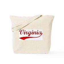 Red Vintage: Virginia Tote Bag