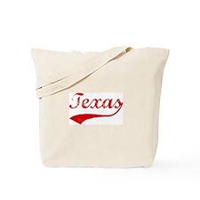 Red Vintage: Texas Tote Bag