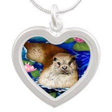 otter copy                   Silver Heart Necklace